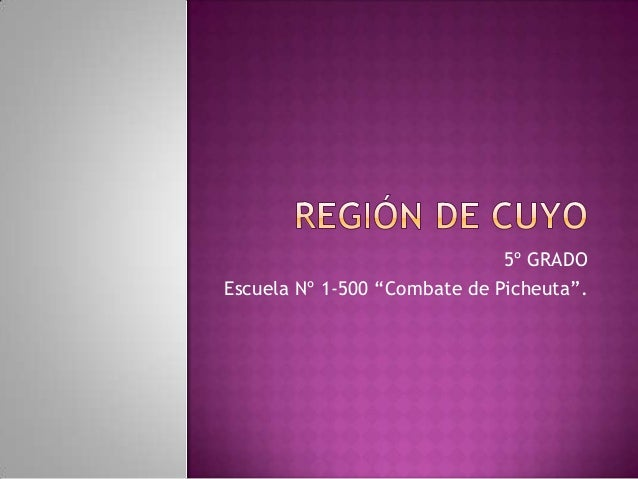 "5º GRADO Escuela Nº 1-500 ""Combate de Picheuta""."