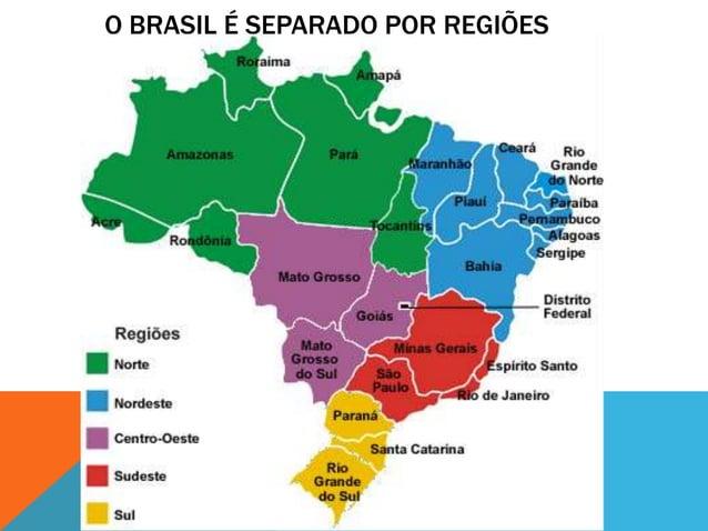 O BRASIL É SEPARADO POR REGIÕES