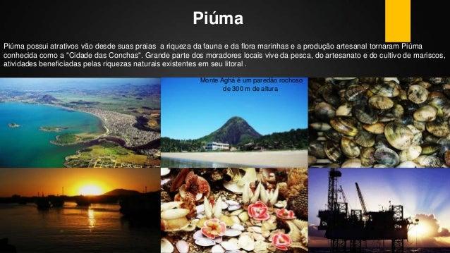 Piúma Piúma possui atrativos vão desde suas praias a riqueza da fauna e da flora marinhas e a produção artesanal tornaram ...