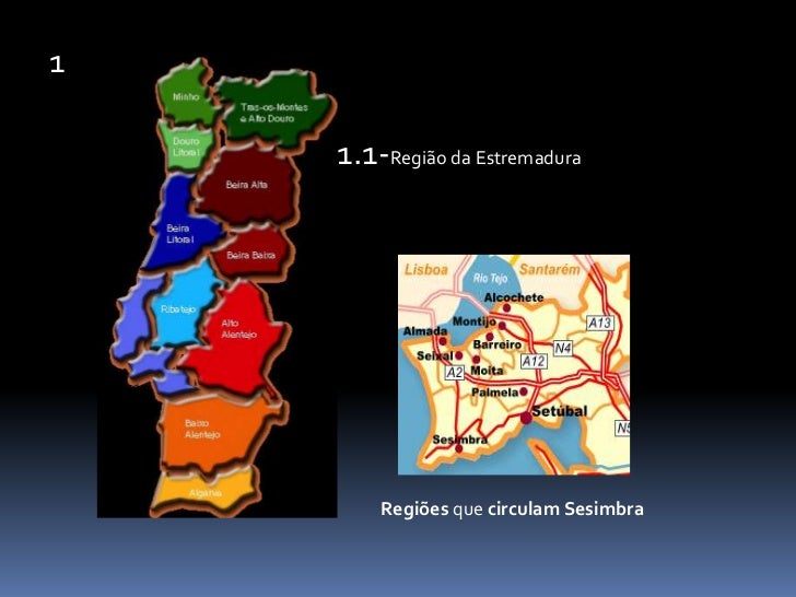 1<br />1.1-Região da Estremadura<br />Regiões que circulam Sesimbra<br />