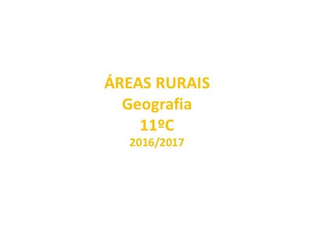 ÁREAS RURAIS Geografia 11ºC 2016/2017