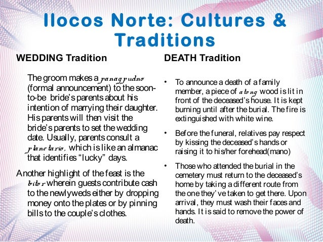 Region 1 cultures and traditions