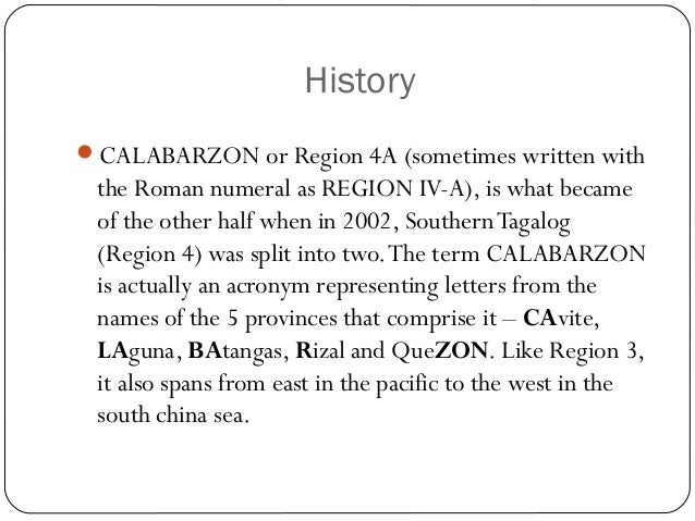 Calabarzon meaning