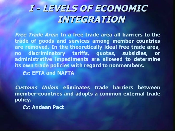 Regional Economic Integration Slide 3