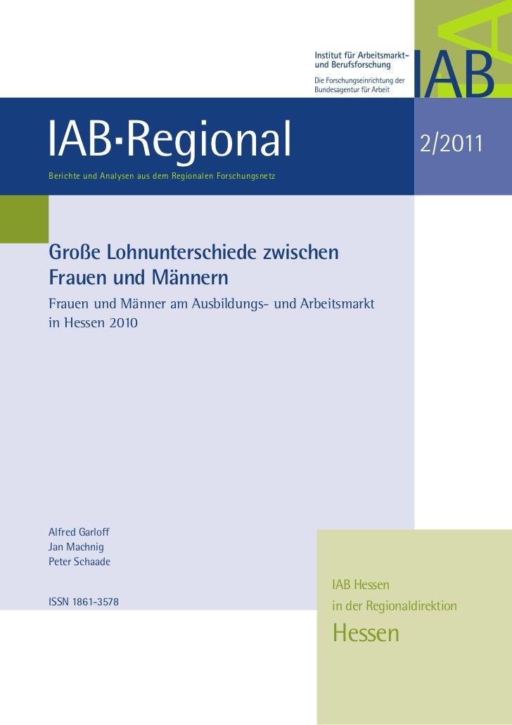 IAB RegionalBerichte und Analysen aus dem Regionalen Forschungsnetz                                                       ...
