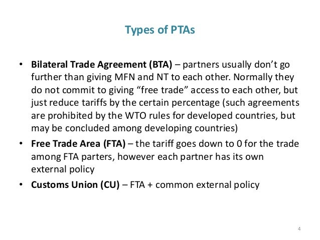 Regional And Bilateral Trade Agreement