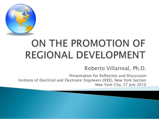 Roberto Villarreal, Ph.D.                               Presentation for Reflection and DiscussionInstitute of Electrical ...
