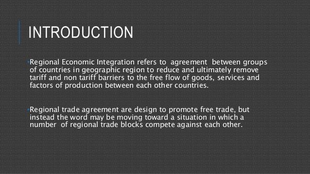 types of regional economic integration