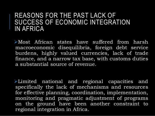 Advantages and disadvantages of regional integration for africa