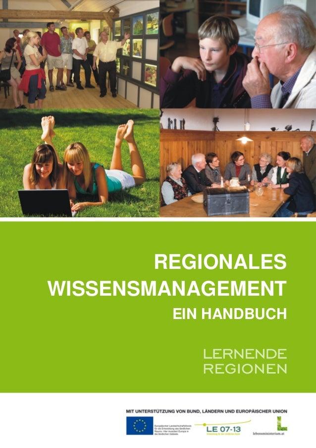 REGIONALES WISSENSMANAGEMENT EIN HANDBUCH
