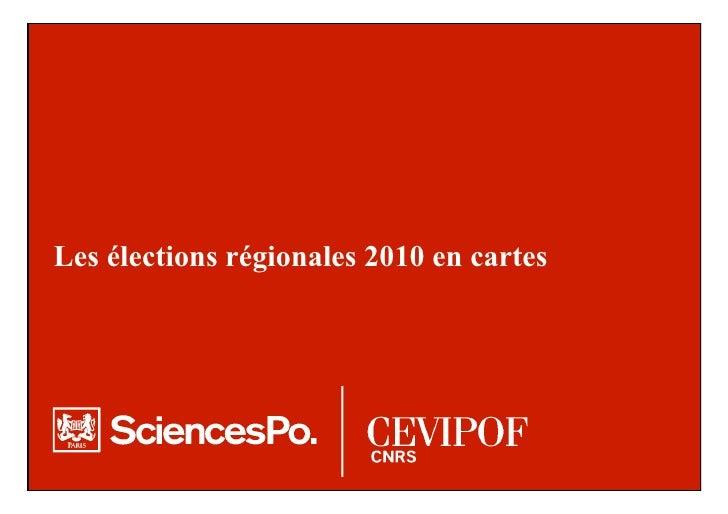 Les élections régionales 2010 en cartes