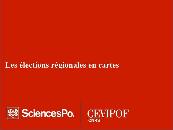 Les élections régionales en cartes