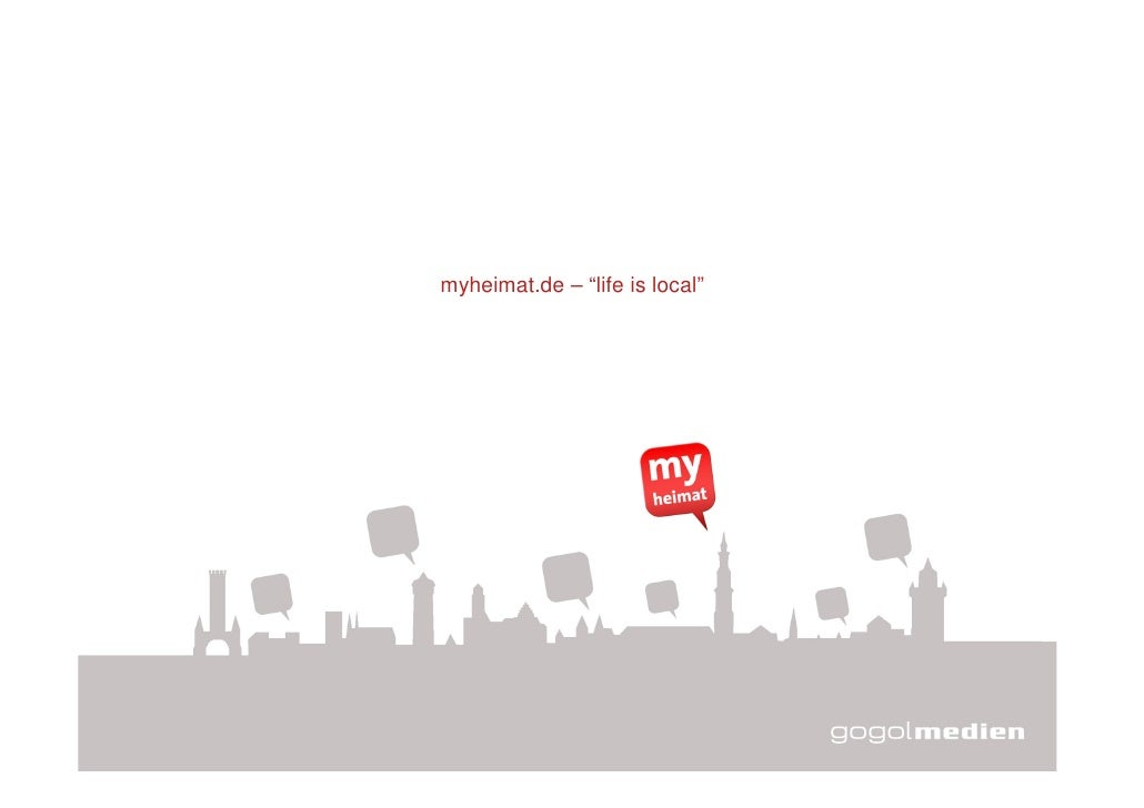 "myheimat.de – ""life is local""     -- vertraulich --                                   1"