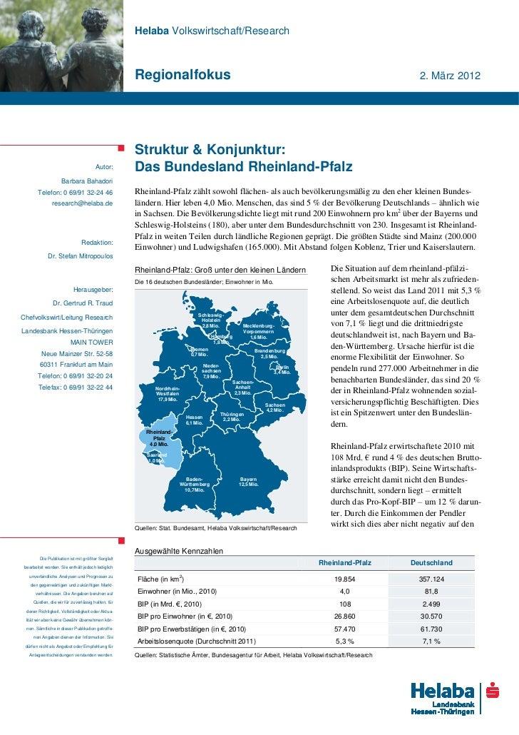 Helaba Volkswirtschaft/Research                                                    Regionalfokus                          ...