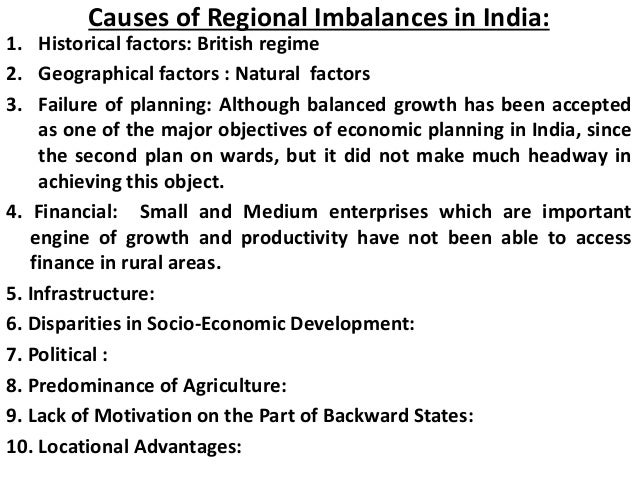 regional disparities in india slideshare