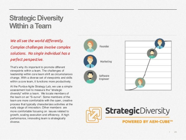   24 StrategicDiversity WithinaTeam We all see the world differently. Complex challenges involve complex solutions. No sin...