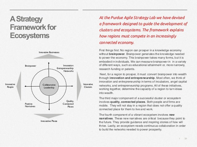   31 AStrategy Frameworkfor Ecosystems At the Purdue Agile Strategy Lab we have devised a framework designed to guide the ...