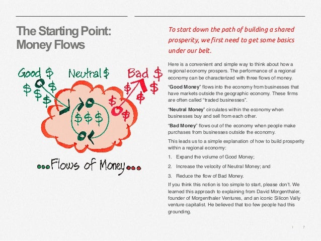   7 TheStartingPoint: MoneyFlows To start down the path of building a shared prosperity, we first need to get some basics ...