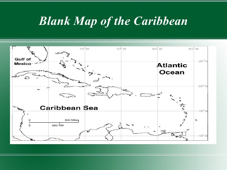3 Blank Map Of The Caribbean