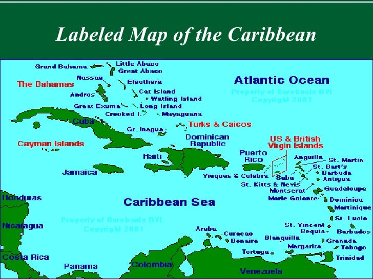 Show Me A Map Of The Caribbean My Blog