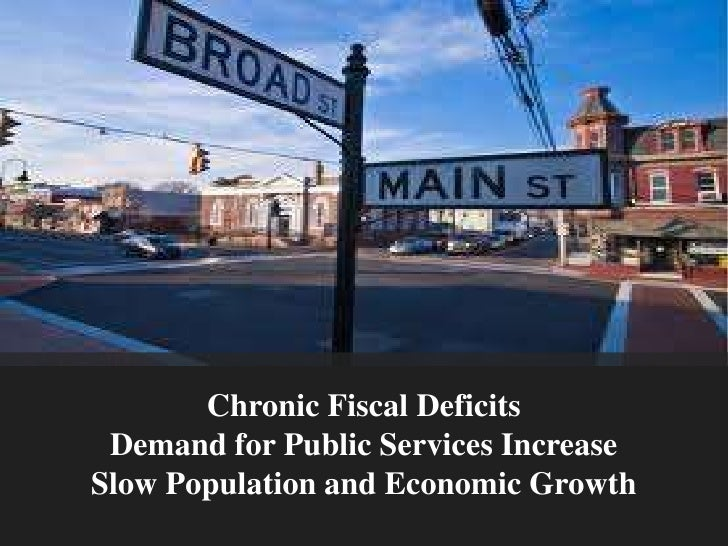 Chronic Fiscal Deficits<br />Demand for Public Services Increase<br />Slow Population and Economic Growth<br />