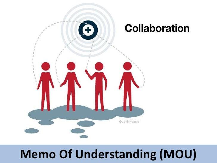 Memo Of Understanding (MOU)<br />