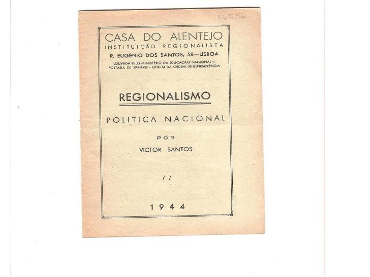 Regionalismo Politica Nacional
