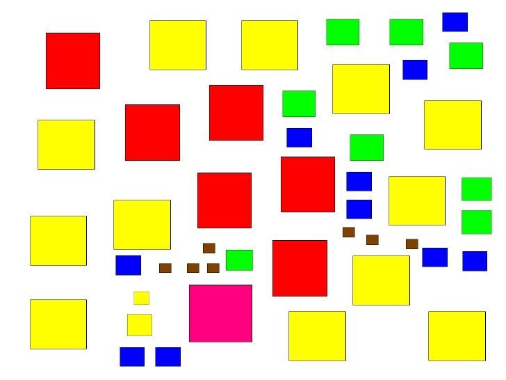 Vamos agora regionalizar os quadrados pelo tamanho? Vamos formar regiões com os quadrados pequenos! O QUE IMPORTA AGORA É ...