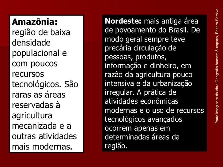 Parte integrante da obra Geografia homem & espaço, Editora Saraiva Nordeste:  mais antiga área de povoamento do Brasil. De...