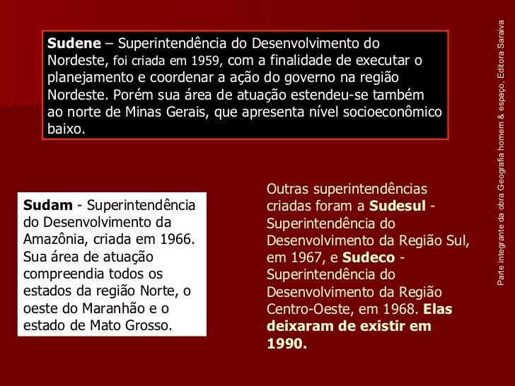 Parte integrante da obra Geografia homem & espaço, Editora Saraiva Sudene  – Superintendência do Desenvolvimento do Nordes...