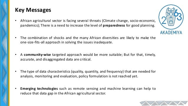 AKADEMIYA2063-CORAF Regional Learning Event, July 6 2021: Predicting Crop Production in West and Central Africa Using Remote Sensing and Machine Learning Techniques Slide 2