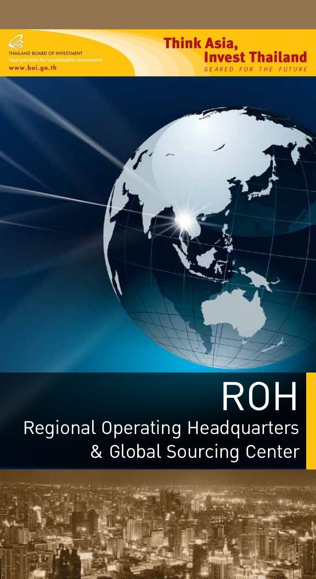 ROH Regional Operating Headquarters & Global Sourcing Center