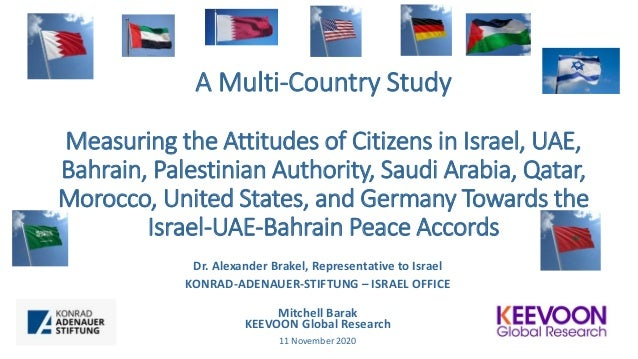 A Multi-Country Study Measuring the Attitudes of Citizens in Israel, UAE, Bahrain, Palestinian Authority, Saudi Arabia, Qa...