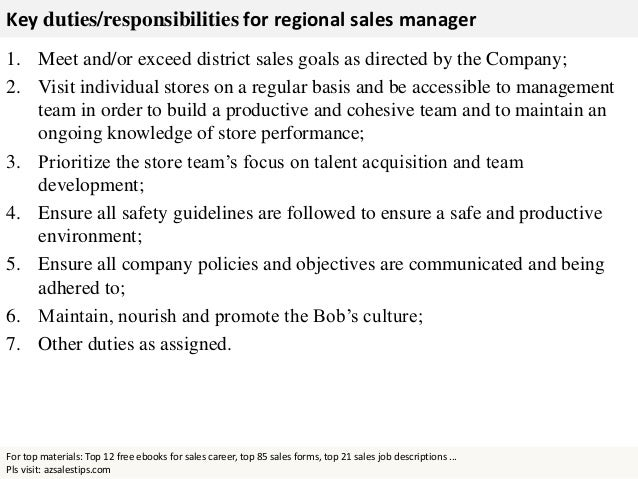 sales manager duties and responsibilities pdf