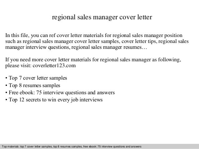 regional sales manager cover letter in this file you can ref cover letter materials for