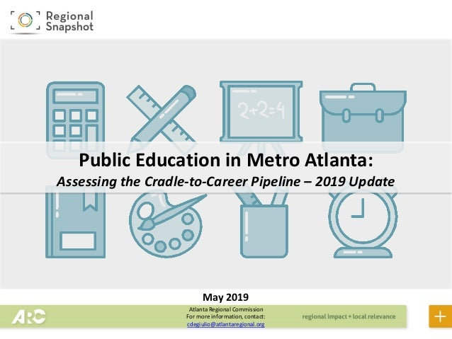 Atlanta Regional Commission For more information, contact: cdegiulio@atlantaregional.org Public Education in Metro Atlanta...
