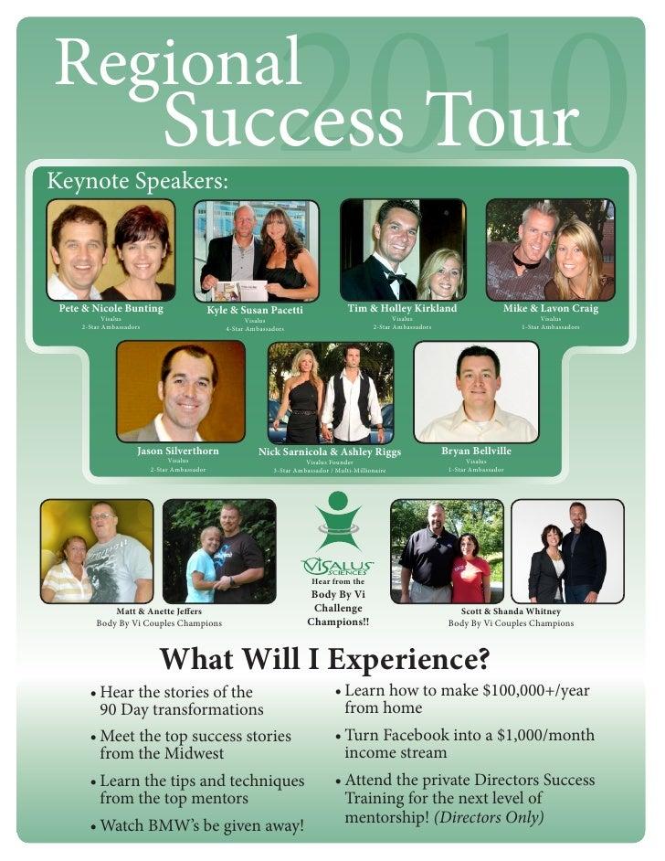 Regional Keynote Speakers:                              Success Tour                       2010  Pete & Nicole Bunting    ...