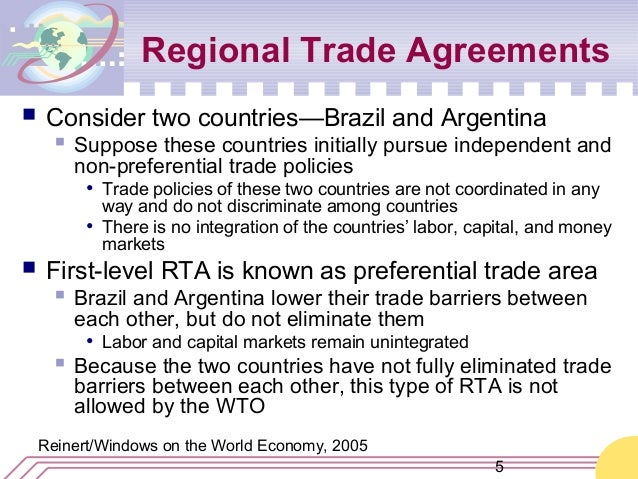 regional trade agreements Bilateral trade agreements (btas) and regional trade agreements (rtas) are an important social phenomenon in the world today literally, a bilateral trade agreement is one made between two contracting parties, and a regional trade agreement is one made between two or more contracting parties that.