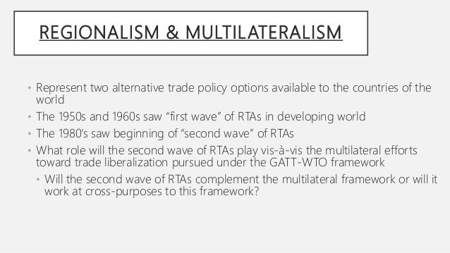 Multilateral trading system meaning