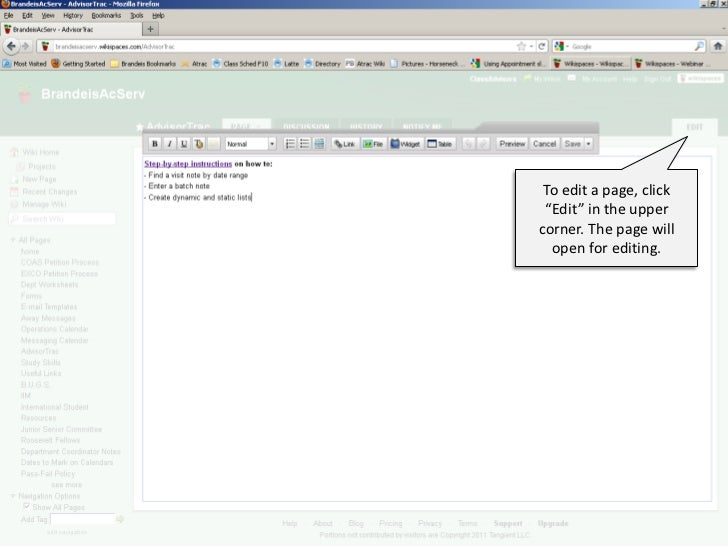 """To create a new page,  click """"New Page"""""""