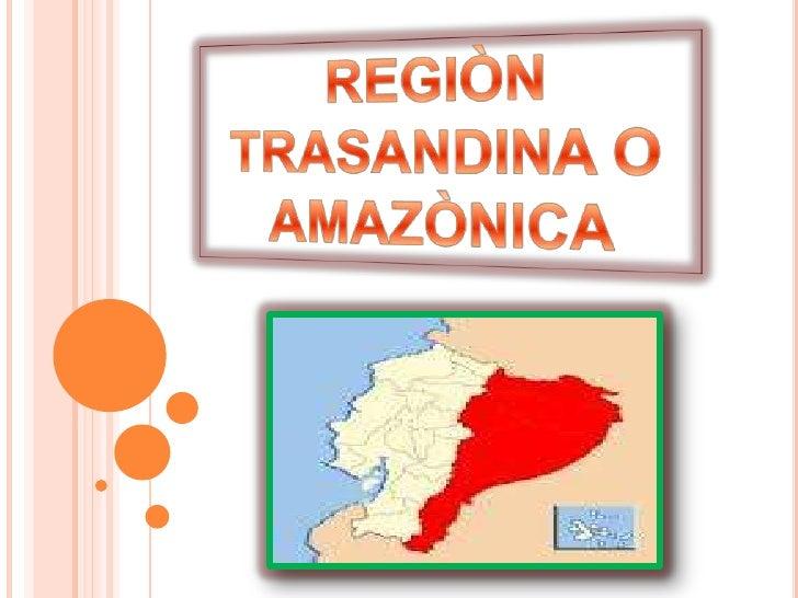 La región del Amazonas o de la selva, situada a aleste de los Andes, es una de las áreas másaccesibles y amistosa para el ...