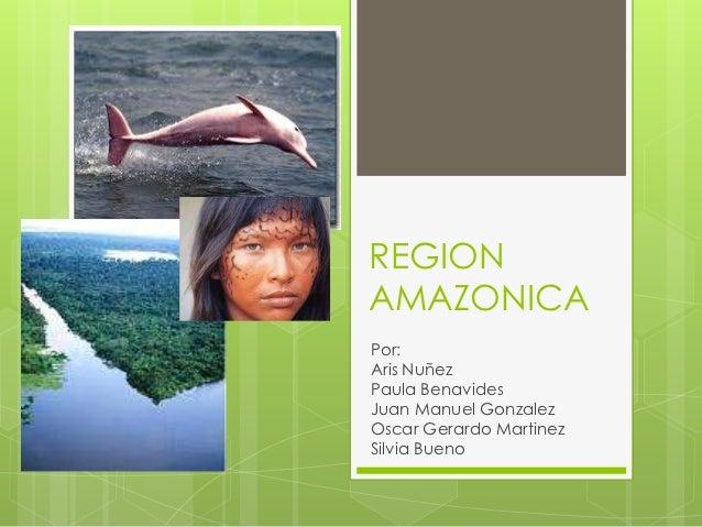 REGIONAMAZONICAPor:Aris NuñezPaula BenavidesJuan Manuel GonzalezOscar Gerardo MartinezSilvia Bueno
