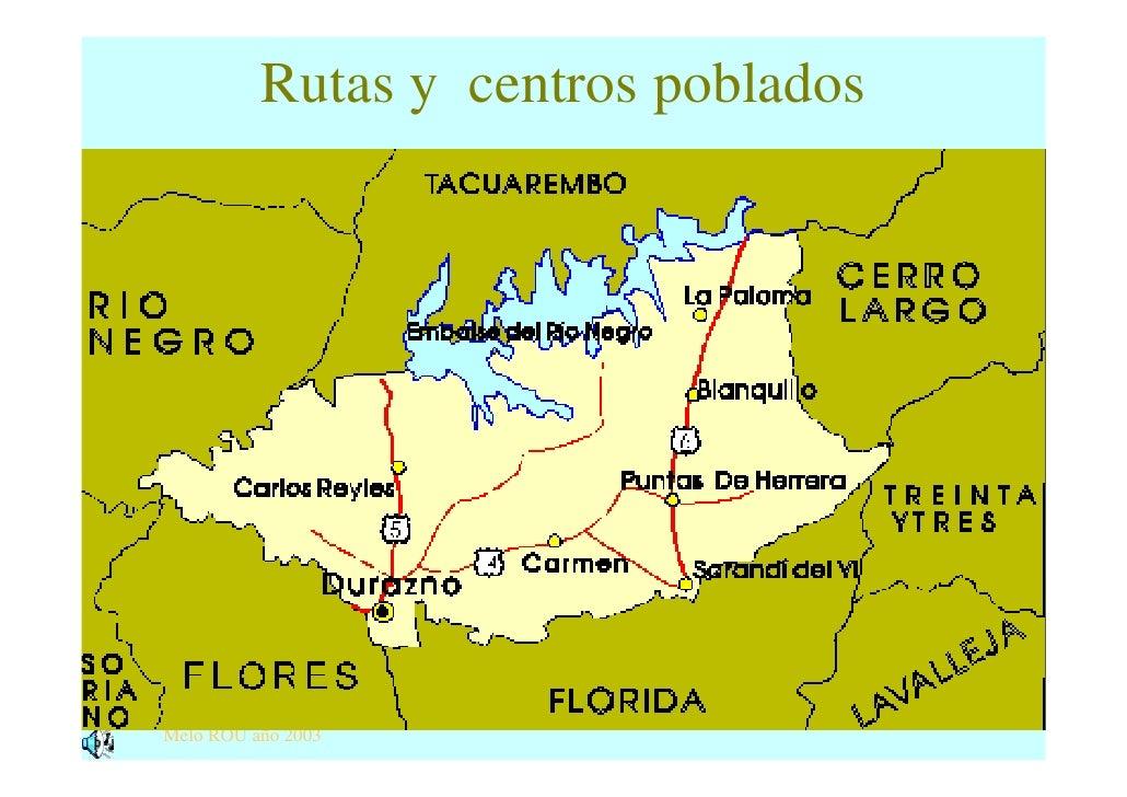 Mapa Politico De Florida Uruguay