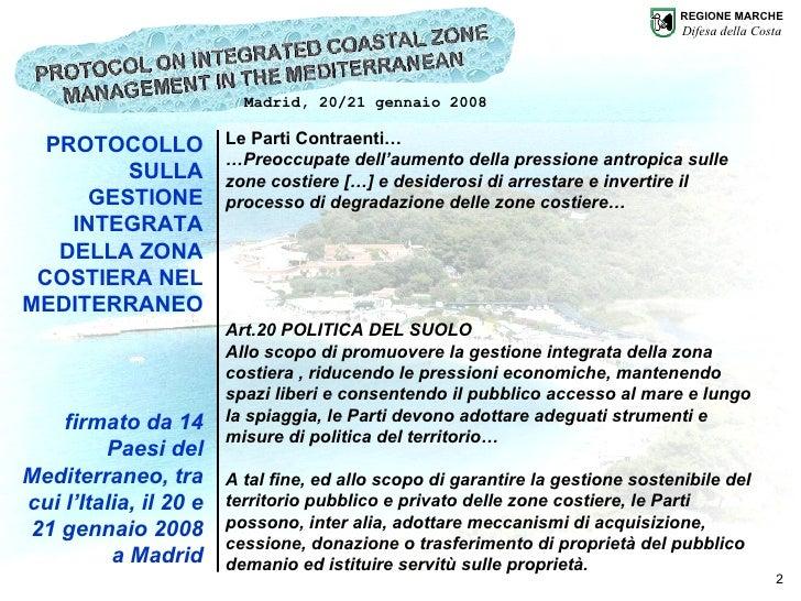 Regione Marche - P.F. Difesa della Costa  Slide 2
