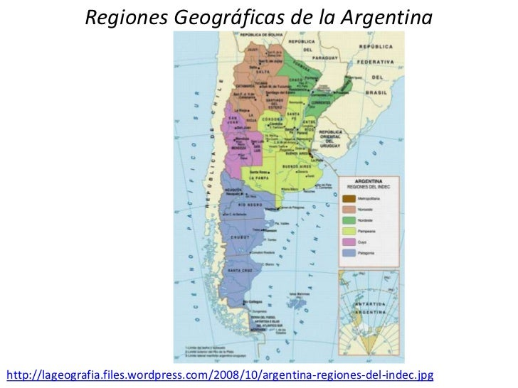 Regiones Geográficas de la Argentina<br />http://lageografia.files.wordpress.com/2008/10/argentina-regiones-del-indec.jpg<...