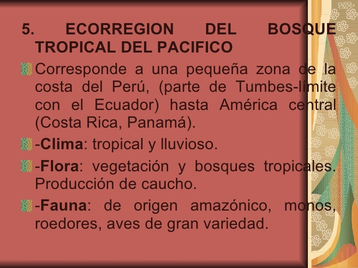 Regiones Geograficas Del Peru