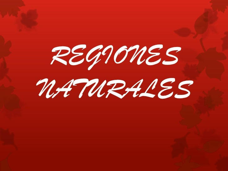REGIONESNATURALES