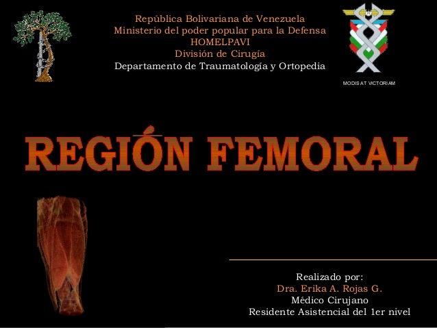 República Bolivariana de Venezuela Ministerio del poder popular para la Defensa HOMELPAVI División de Cirugía Departamento...