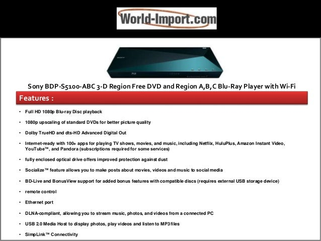 Buy Region Free Blue Ray DVD Players From World-Import Com – Save Up …