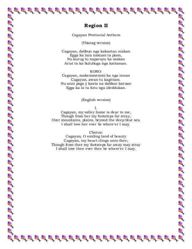 Region i v songs